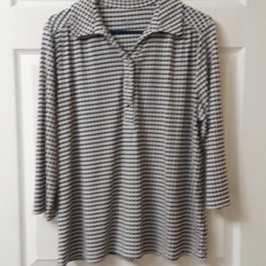 212 Collection XL Houndstooth popover top